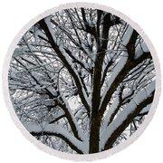 Winter Tree 1 Round Beach Towel