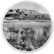 Winter Trees Landscape Round Beach Towel