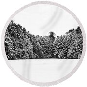 Winter Trees Mink Brook Hanover Nh Round Beach Towel