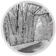Winter White Round Beach Towel