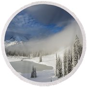 Winter Wonderland Round Beach Towel by Mike  Dawson