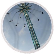 Winter Wonderland Star Flyer Round Beach Towel