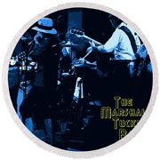 Winterland Blues With The Marshall Tucker Band 1976 Round Beach Towel