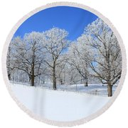 Winter's Best Round Beach Towel