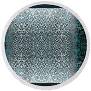Winters Past And Present Round Beach Towel