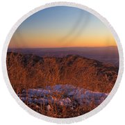 Winter's Splendor Round Beach Towel by Heidi Smith