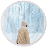 Winter's Tale Round Beach Towel