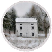 Wintertime In Valley Forge Round Beach Towel by Bill Cannon