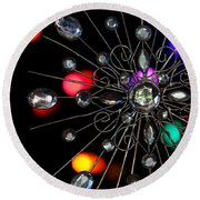Wire And Glass Ornament Round Beach Towel
