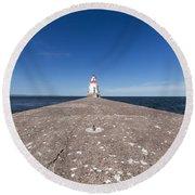 Wisconsin Point Lighthouse 6 B Round Beach Towel