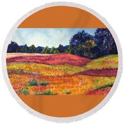 Wisconsin Summer Round Beach Towel