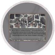 Wisdom In Stone Inspirational Round Beach Towel