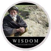 Wisdom Inspirational Quote Round Beach Towel by Stocktrek Images