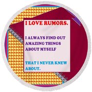 Wisdom Quote Rumors Artistic  Background Designs  And Color Tones N Color Shades Available For Downl Round Beach Towel