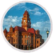 Wise County Courthouse Round Beach Towel