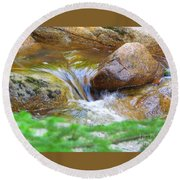 Wishing Waterfall Round Beach Towel