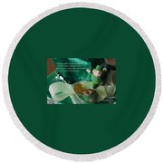 Wishing You A Happy St. Patricks Day Round Beach Towel