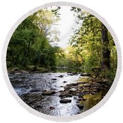 Wissahickon Creek Near Bells Mill Round Beach Towel