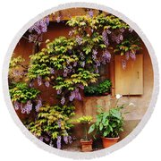 Wisteria On Home In Zellenberg 4 Round Beach Towel