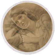 Wistful - Drawing Round Beach Towel