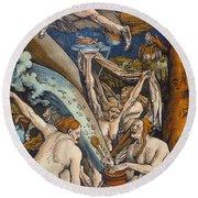 Witches Round Beach Towel by Hans Baldung Grien