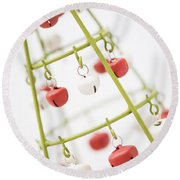 With Bells On Round Beach Towel