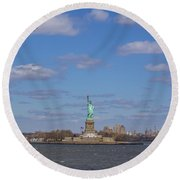 With Liberty... Round Beach Towel