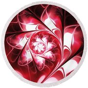 With Love Round Beach Towel