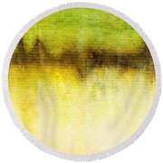 Wither Whispers II Round Beach Towel