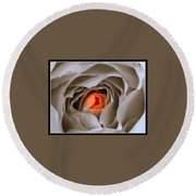 Within A Rose Round Beach Towel