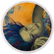 Within Temptation Round Beach Towel by Dorina  Costras