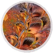 Within The Glass Round Beach Towel