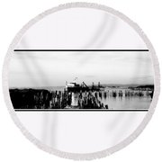 With'in The Harbor Round Beach Towel