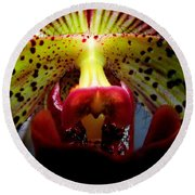 Within The Lady Slipper Round Beach Towel