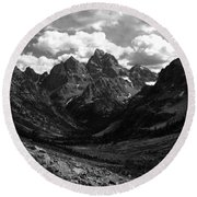 Within The North Fork Of Cascade Canyon Round Beach Towel