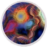 Within You And Without You Round Beach Towel