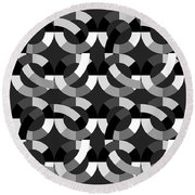 Without Colors  Round Beach Towel