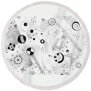 Without Gravity Round Beach Towel