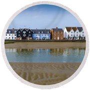 Wivenhoe Waterfront Round Beach Towel by Gary Eason