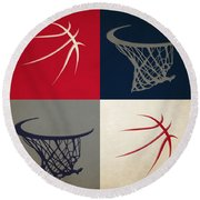 Wizards Ball And Hoop Round Beach Towel