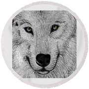 Wolf 2 Round Beach Towel
