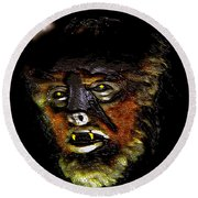Wolf Man Original Work One Round Beach Towel