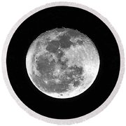Wolf Moon Waning Round Beach Towel