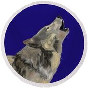 Wolf Song Round Beach Towel