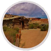 Wolfe Ranch Round Beach Towel