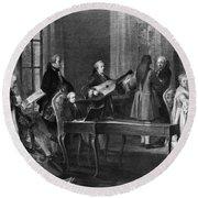 Wolfgang Amadeus Mozart (1756-1791) Round Beach Towel