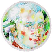 Wolfgang Amadeus Mozart Round Beach Towel