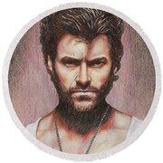 Wolverine Round Beach Towel