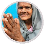 Woman Of India Round Beach Towel