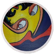 Woman20 Round Beach Towel